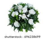 Stock photo flower circle is a white rose white background 696238699