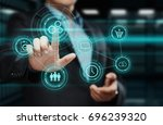 automation software technology... | Shutterstock . vector #696239320