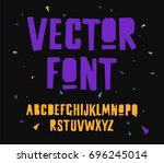 geometric vector font on black... | Shutterstock .eps vector #696245014