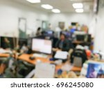 blurred in the office work... | Shutterstock . vector #696245080