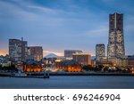 yokohama minato mirai bayside... | Shutterstock . vector #696246904
