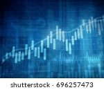 financial charts and graphs... | Shutterstock . vector #696257473