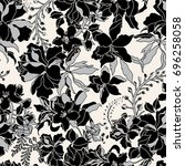 vector seamless dry floral... | Shutterstock .eps vector #696258058