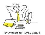 vector illustration character... | Shutterstock .eps vector #696262876