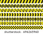set of caution tapes. for... | Shutterstock . vector #696265960