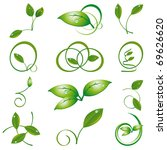 a set of green leaves to the... | Shutterstock .eps vector #69626620