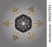 snowflake vector   Shutterstock .eps vector #696267814
