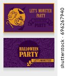 template for halloween party... | Shutterstock .eps vector #696267940