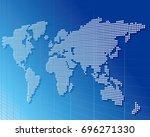 world map vector  | Shutterstock .eps vector #696271330