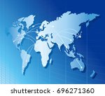 world map vector  | Shutterstock .eps vector #696271360