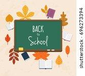 back to school illustration... | Shutterstock .eps vector #696273394