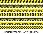 set of warning tapes. for... | Shutterstock . vector #696288193
