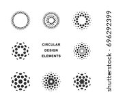 set of abstract circular... | Shutterstock .eps vector #696292399