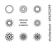 set of abstract circular... | Shutterstock .eps vector #696292399