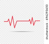 heartbeat icon for medical apps ... | Shutterstock .eps vector #696293650
