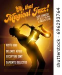 isolated vector jazz poster.... | Shutterstock .eps vector #696293764