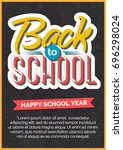 back to school card with color... | Shutterstock .eps vector #696298024