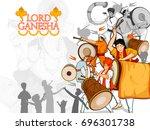 lord ganpati in vector for... | Shutterstock .eps vector #696301738