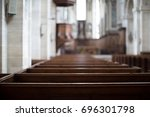 Inside An Empty Church In...