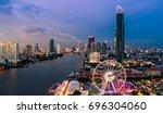 bangkok cityscape. bangkok... | Shutterstock . vector #696304060