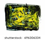 brush stroke and texture. smear ... | Shutterstock . vector #696306334