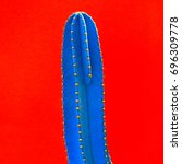 cactus. fashion design. minimal.... | Shutterstock . vector #696309778