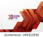 techno arrow background  vector ...   Shutterstock .eps vector #696313330