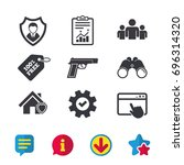 security agency icons. home...