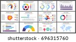 infographic elements set  ... | Shutterstock . vector #696315760