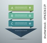 arrow infographic concept.... | Shutterstock .eps vector #696326119