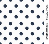 seamless background in polka... | Shutterstock .eps vector #696327928