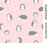 seamless pattern with cute... | Shutterstock .eps vector #696328906