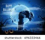 halloween background with... | Shutterstock .eps vector #696333466