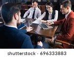 startup business team on... | Shutterstock . vector #696333883
