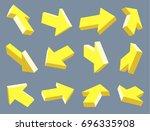set of arrow pointers. three...   Shutterstock .eps vector #696335908