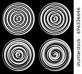 set of vector round elements... | Shutterstock .eps vector #696336646