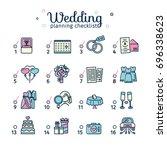 template design wedding... | Shutterstock .eps vector #696338623