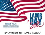 labor day sale special offer... | Shutterstock .eps vector #696346000