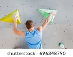 sport and fitness man on... | Shutterstock . vector #696348790