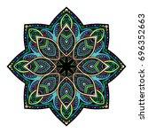 oriental stylized ornament... | Shutterstock .eps vector #696352663