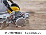 standard construction safety... | Shutterstock . vector #696353170