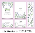 wedding invitation card... | Shutterstock .eps vector #696356770