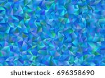 light blue vector polygon...   Shutterstock .eps vector #696358690