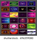 colorful business card template | Shutterstock .eps vector #696359080