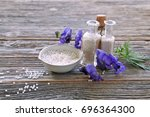 aconitum napellus in homeopathy ...   Shutterstock . vector #696364300