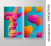 set of two vector vertical... | Shutterstock .eps vector #696367954