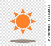 sun sunlight sunshine icon... | Shutterstock .eps vector #696368686