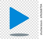 play icon   next icon   player... | Shutterstock .eps vector #696368704
