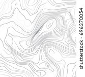 abstract topographic lines map... | Shutterstock .eps vector #696370054