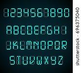 digital font  alarm clock... | Shutterstock . vector #696375040